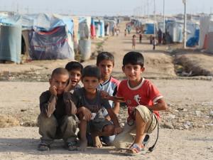 Children at Domiz Refugee Camp
