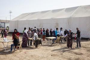 Refugees prepare for winter.