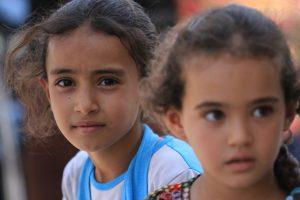 Iraqi girls at camp near Baghdad